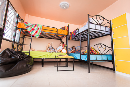 men's shared room in STASH